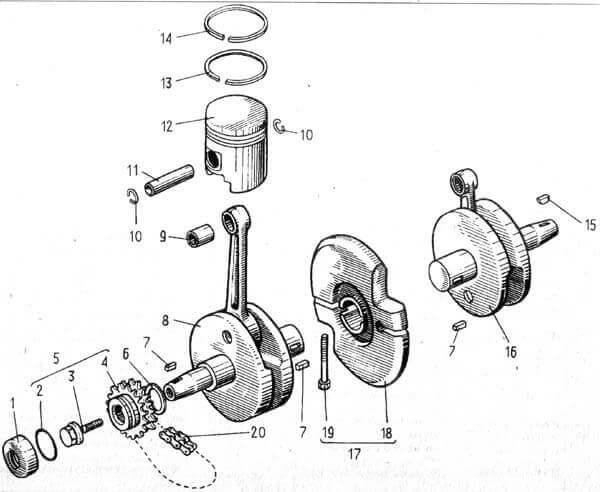 Электропроводка ИЖ Планета 3 схема проводки 6 вольт: инструкция с ... | 492x600