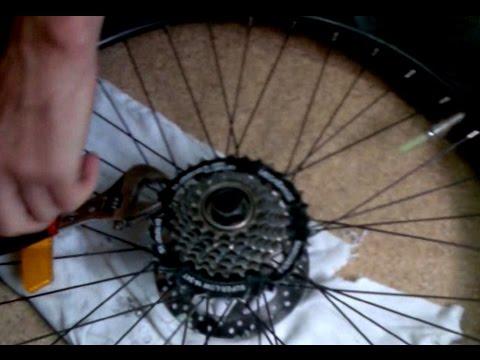 Как снять звездочку с велосипеда